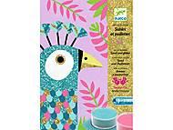 Набор для рисования цветным песком «Ослепительные птицы», DJ08663, фото
