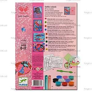 Набор для рисования цветным песком и блестками «Радужные рыбки», DJ08661, купить
