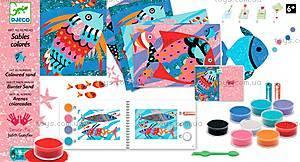 Набор для рисования цветным песком и блестками «Радужные рыбки», DJ08661, фото