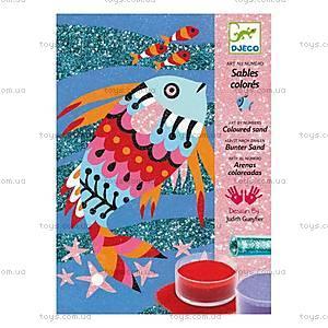Набор для рисования цветным песком и блестками «Радужные рыбки», DJ08661