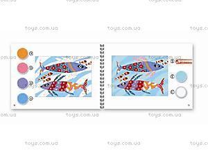 Набор для рисования цветным песком и блестками «Радужные рыбки», DJ08661, детские игрушки