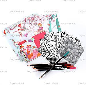 Набор для рисования карандашами «Красивые платья», DJ08985, фото