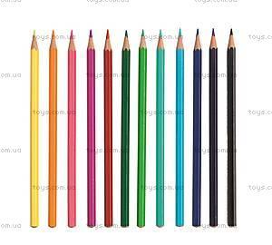 Набор карандашей Djeco, 12 цветов, DJ05395, купить