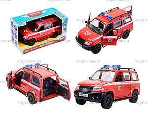 Инерционная пожарная машинка «Автопарк», 9625-D