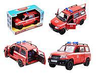 Инерционная пожарная машинка «Автопарк», 9625-D, фото