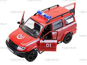 Инерционная пожарная машинка «Автопарк», 9625-D, игрушки