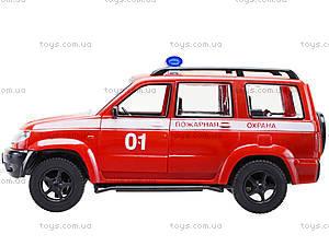 Инерционная пожарная машинка «Автопарк», 9625-D, детские игрушки
