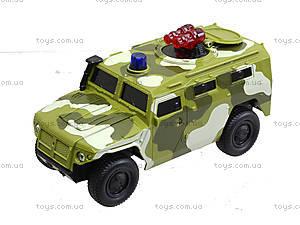 Музыкальный военный джип серии «Автопарк», 9706C, детские игрушки