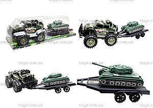 Инерционный джип с прицепом и танком, 364D-2