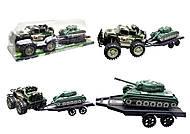 Инерционный джип с прицепом и танком, 364D-2, отзывы