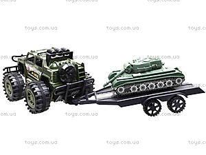 Инерционный джип с прицепом и танком, 364D-2, цена