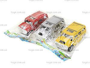 Инерционный джип для мальчиков «Хаммер», 1001, детские игрушки