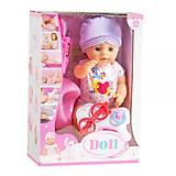 Доктор пупс «Doll» в костюмчике с мишкой, YL1812A/B, фото
