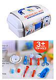 Докторский набор в саквояже с медицинскими инструментами, 4777-123, фото