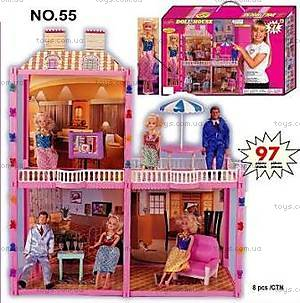 Дом для Барби, 3 комнаты, 55д