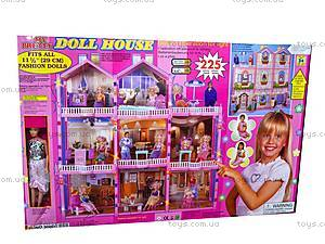 Дом для Барби, 8 комнат и кукла, 300D, цена