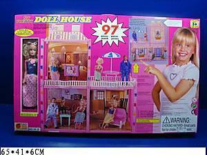 Дом для Барби с 3 комнатами и куклой, 55D