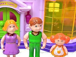 Дом кукольный с мебелью, 32663A, детские игрушки