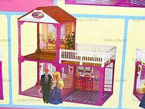 Домик 2-х этажный,с мебелью, 6982A, магазин игрушек