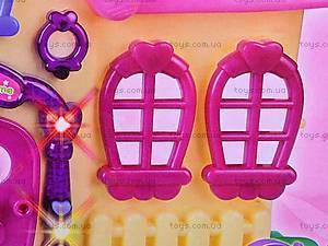 Домик игрушечный для кукол с мебелью, BS899-12X, детские игрушки
