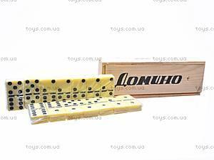 Домино в деревянной коробочке, 4807