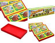 Детское домино «Зоопарк», 3305, детские игрушки