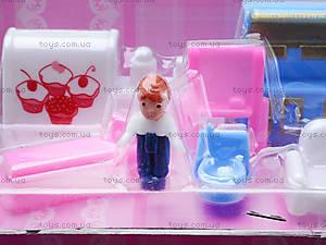 Домик с куклами и мебелью, 805A, фото