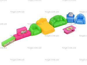 Игрушечный домик с мебелью, 901-77, игрушки