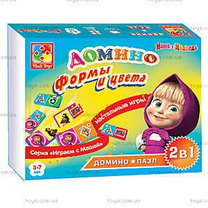 Домино развивающее «Маша и Медведь», VT2102-06, детские игрушки