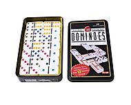 Домино в жестяной коробке, 28 фишек, 5010F, отзывы