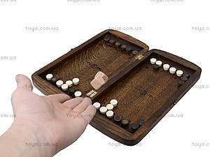 Детские деревянные нарды, дорожные, 171863, игрушки