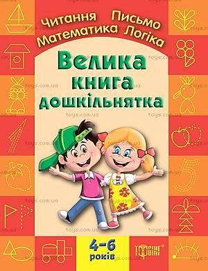 Большая книга дошкольника «Математика, чтение, письмо, логика», 003456, купить