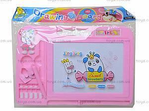 Магнитная доска для рисования со штампами, 298-16, игрушки
