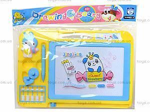 Магнитная доска для рисования со штампами, 298-16, детские игрушки