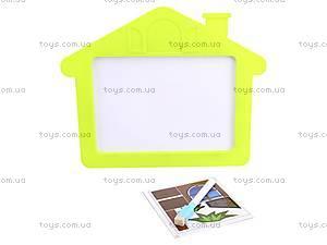 Доска для рисования «Домик» с карандашом, 2621, купить