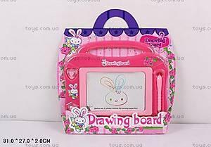 Доска для рисования, розовая, A046B