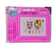 Доска для рисования, магнитная (розовая), BT-MB-0003, игрушки