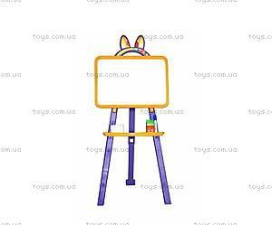 Доска-мольберт для рисования, желто-фиолетовая, 0137774