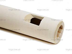 Деревянная дудочка с резьбой «Патриот», 168-01-0353, фото