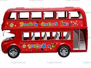 Двухэтажный автобус с инерционным механизмом, 108-19, купить