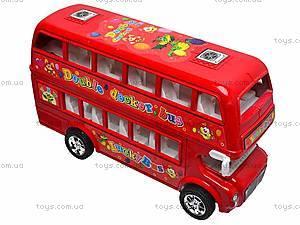 Двухэтажный автобус с инерционным механизмом, 108-19, фото