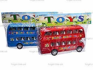 Двухэтажный автобус с инерционным механизмом, 108-19, цена