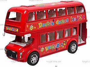 Двухэтажный автобус с инерционным механизмом, 108-19