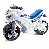 Двухколесная каталка «Мотоцикл», белый с сигналом, 501в.3