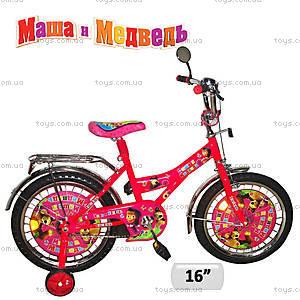 Двухколесный велосипед «Маша и медведь», 131612