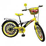 """Двухколесный велосипед «Автогонщик» 20"""", black-yellow, T-22025, toys"""