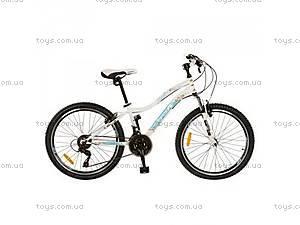 Двухколесный велосипед нежно-голубого цвета,