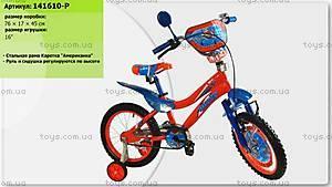 Двухколесный велосипед со стальной рамой «Летачки'', 16 дюймов, 141610-P