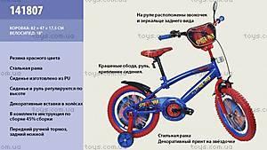Двухколесный велосипед со стальной рамой «Spider man», 141807