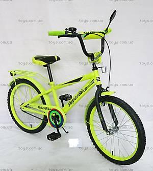 Двухколесный велосипед со стальной рамой «Super Bike», лайм, 152009